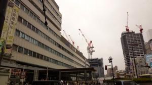 天王寺駅。大規模再開発中。さいきんの大阪はどこも工事。