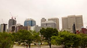 都会の真ん中の公園